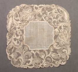 Handkerchief, Point d'Alencon lace