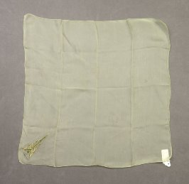Embroidered handkerchief: pastel green