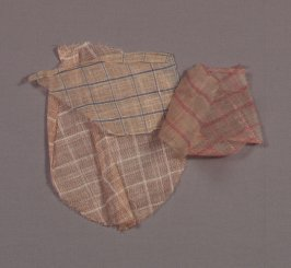 Cloth used for skirts and waists (five small fragments)measured the largest fragment