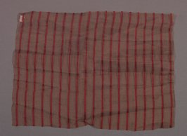 Cloth red stripes on tan