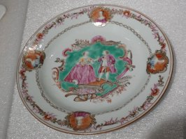 "Plate, ""Ben Franklin and Marie Antoinette"""
