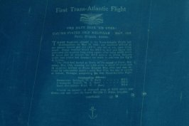 Blue print of the chart of the Trans-Atlantic flight of seaplane N.C. 3, use d by Commander Towers and crew