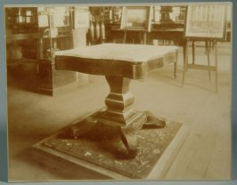 Photograph of table on which the surrender of General R.E. Lee to General U.S. Grant was written and signed
