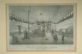 Interior view of the Merchants Exchange, San Francisco (part of scrapbook - see file)