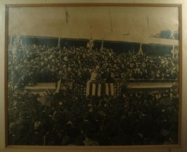 framed photograph of official ceremony