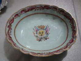 Large boat-shaped serving bowl