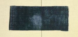 Fragment: of blue silk velvet
