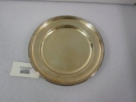 Deep plate with moulded lined rim
