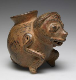 Pot in the form of a Monkey
