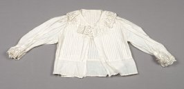 Blouse from child's Swiss costume: skirt, bodice, blouse, apron, bonnet, waist, collar mitts & necklace