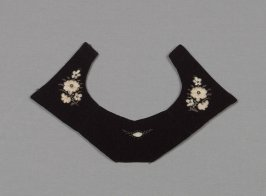 Collar from child's Swiss costume: skirt, bodice, blouse, apron, bonnet, waist, collar mitts & necklace