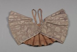 Vest(korotenka or dushegreya): brown with silver