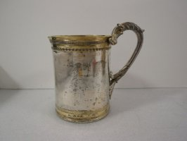 Tankard large loop handle w/two dragon head & small spout