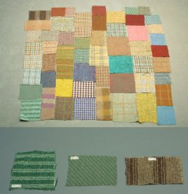 Fifty-two Harris tweed fragments