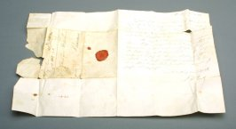 "Letter in German signed by ""Haupt"",from Hamburg or Bremen?; probably non- accessioned, with 55.4"