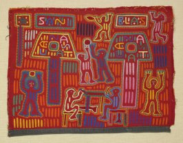 Mola panel for a woman's blouse
