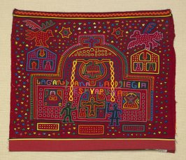 Mola panel for a blouse