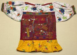 Blouse with mola