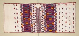 One of two panels of a woman's blouse (huipil)