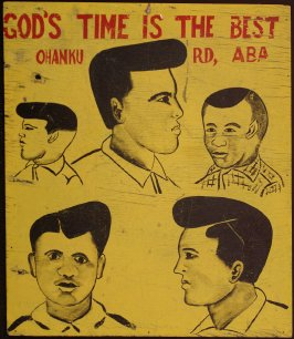 Barber board, God's Time is the Best