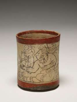Codex-style Vase with seated figure (old god emerging from the mouth of a serpent)