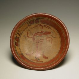 Plate with Standing Figure