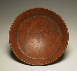Plate with Bird in Profile