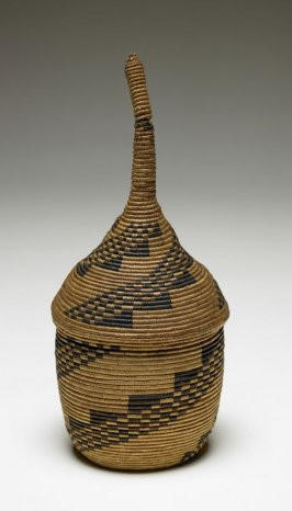Small Woven Covered Basket