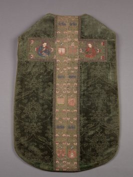 Chasuble, embroidered orphrey cross