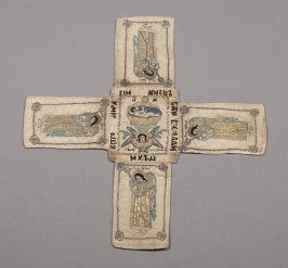 Chalice cover in the form of a cross