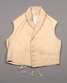 Vest: cream wool melton