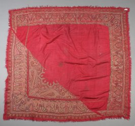 Shawl, one-cornered pattern