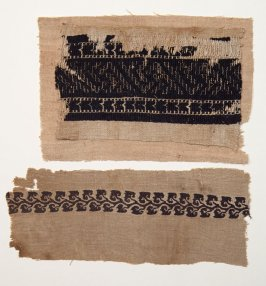 Two separate pieces, probably fragments of a garment