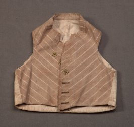 Child's vest brown and beige