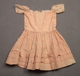 Child's dress yellow and white checked