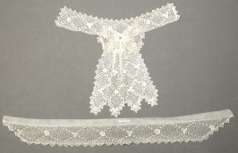 Collars and jabot with bow