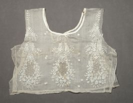 Dress bodice white floral pattern embroidery(relates to X1989.88 and .89)