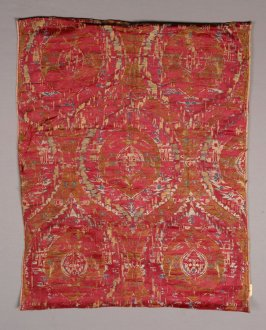 Brocade panel red