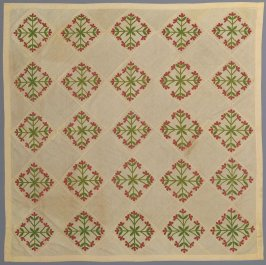 "Quilt top: ""Mexican Rose"" pattern"