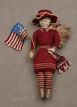Girl Doll with American Flag