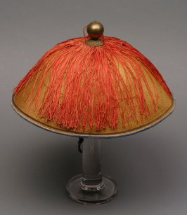 Mandarin summer hat: natural color