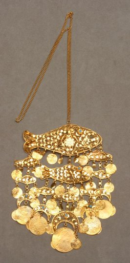 Necklace: with fishes and coins