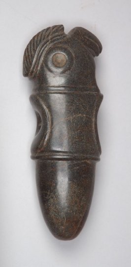 Ritual mace head in the shape of a macaw