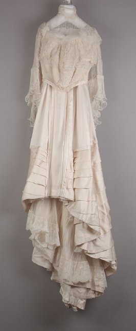 Wedding dress (bodice and skirt)