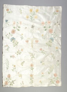 Tabernacle veil panel with embroidered flowers