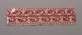 Panel, red embroidery