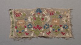 Panel: floral and animal design