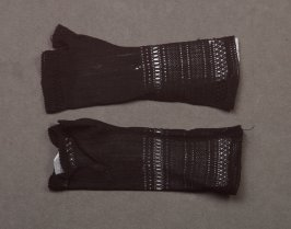 Pair of mitts: black