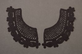 Collar: black, with openwork loop designs