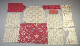 Assorted brocades:, including 5 matching upholstery pieces